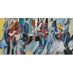 Tokyo 3, oil paint on canvas, 50 x 100 cm, unique