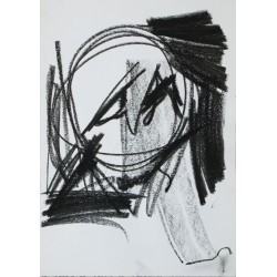 F 161026-10, chalk on paper, 42 x 29.7 cm, unique